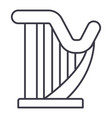 harp line icon sign on vector image