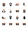 garbage icon set vector image