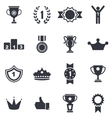 Collection Colorful Awards Icons Isolated on White vector image