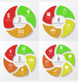 round infographics template for diaram vector image