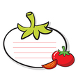 A tomato designed stationery vector image vector image