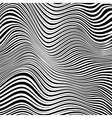 Abstract black and white stripes waves background vector image vector image