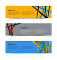 Abstract colored striped banners template vector image
