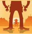 american western cowboy duel gunfight vector image