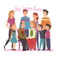 big happy family portrait several generations vector image