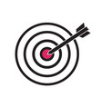 black and red target with arrow dart aim in the vector image