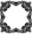 black square frame vintage stencil vector image