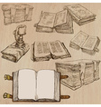 Books Pack of an hand drawn vector image vector image