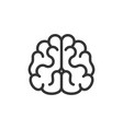 brain icon on white background line style vector image