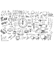 Business doodles sketch vector image