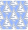 christmas snowy pine and fir tree seamless pattern vector image
