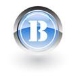 circle lettre b icon logo vector image vector image
