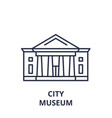 city museum line icon concept city museum vector image vector image