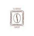 coffee bean icon hand drawn doodle sketch symbol vector image