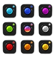 Colorful Camera Icons vector image vector image