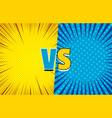 comic versus duel concept vector image vector image