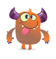 cute angry cartoon monster vector image vector image