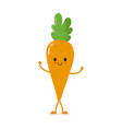 cute smiling carrot character vector image