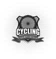 cycling logo template design vector image