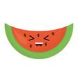 delicious watermelon fruit kawaii character vector image