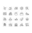 deposit line icons signs set outline vector image vector image