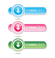 downloading signs vector image vector image