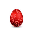 easter egg 3d icon ornate color egg isolated vector image