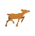 fallow sika roe deer running wild animal cartoon vector image vector image