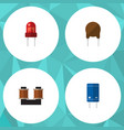 flat icon electronics set of recipient coil vector image vector image