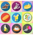 food drink dishes icon set vector image