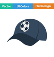 Football fans cap icon vector image