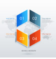 four option infographic template design vector image vector image