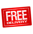 free delivery label vector image