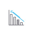 growth rates thin line stroke icon growth vector image