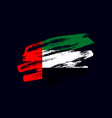 grunge textured emirati flag vector image
