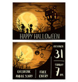 Halloween party invitation set with spooky castle