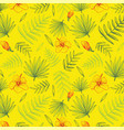 hand drawn floral background with palm leaves vector image vector image