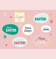 happy easter label typography vector image