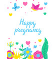 happy pregnancy card baby shower invitation vector image