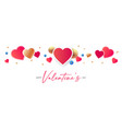 happy valentines day congratulation design with vector image vector image