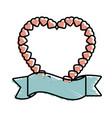 heart love romantic symbol vector image vector image
