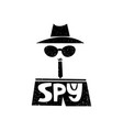i spy detective hand drawn style typography vector image vector image