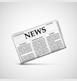 icon newspaper latest news vector image vector image
