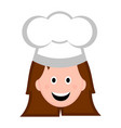 isolated female chef avatar vector image