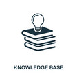 knowledge base icon symbol creative sign vector image