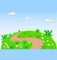 landscape scene background vector image