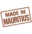 made in mauritius stamp vector image vector image