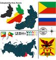 Map of Krai of Zabaykalsky vector image vector image