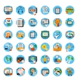 mega collection of business marketing office vector image