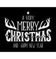 Merry Christmas and happy new year retro poster vector image vector image